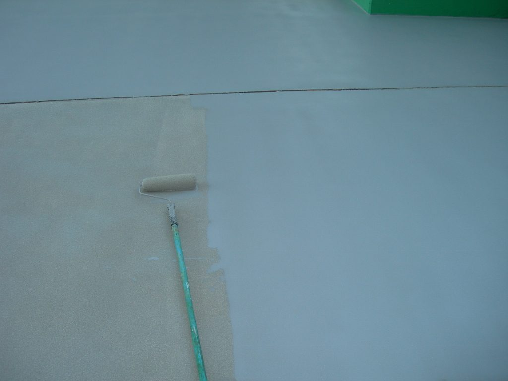 埼玉県さいたま市の某建設会社|駐車場の塗床工事:ケミクリートE