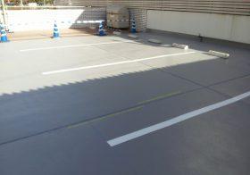 埼玉県さいたま市の某建設会社|駐車場の塗床工事(ケミクリートE施工)