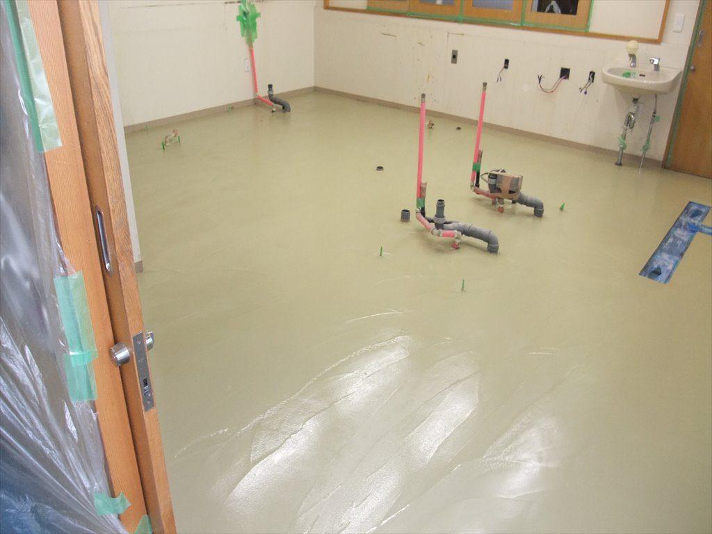 埼玉県三郷市の某福祉施設|厨房塗り床(塗床)改修工事:ケミクリートMS