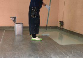 埼玉県入間市の倉庫床塗装改修工事|倉庫床塗装(帯電防止・導電床塗装・防塵):ケミコンダクトRE