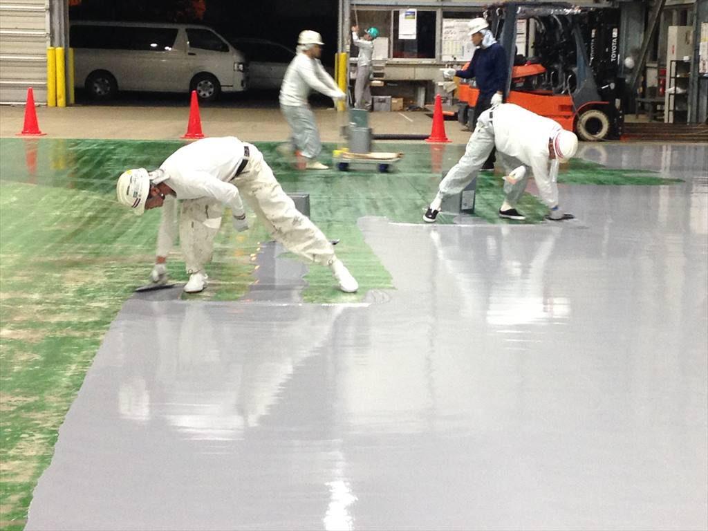 茨城県内某倉庫|厚膜塗床塗り替え工事:ケミクリートE