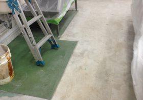 千葉県 某学校給食室床改修工事|給食室塗床改修工事:耐熱ピュールM7工法