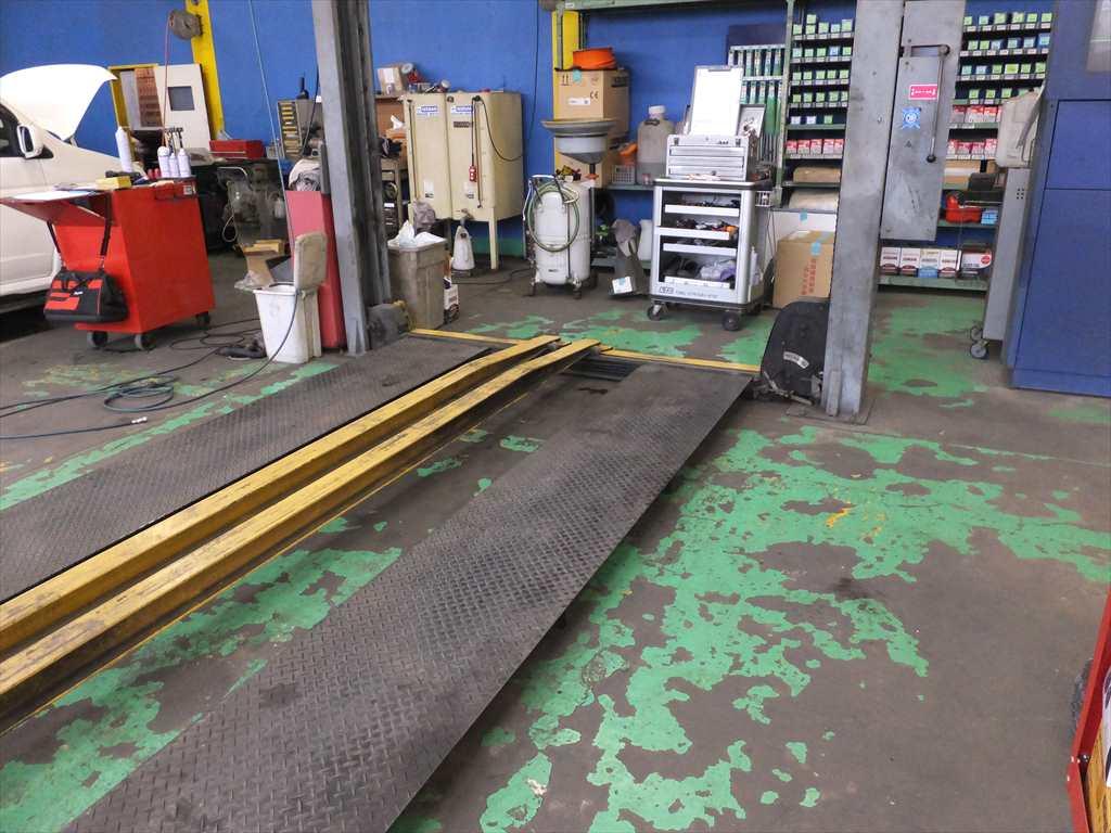 工場床塗装塗替え