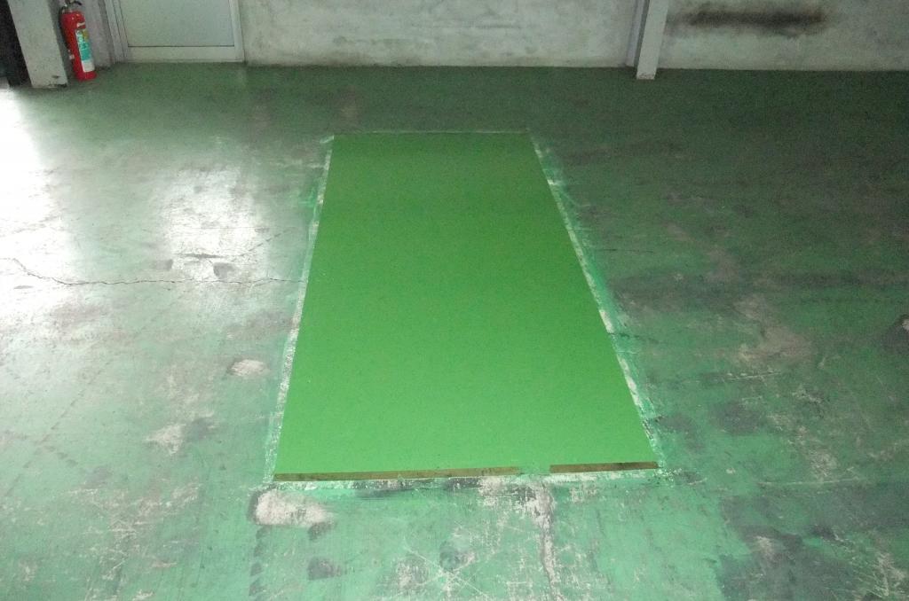 茨城県結城市の貸倉庫|倉庫床塗装(塗り床)塗替え工事:防塵塗装、ケミクリートEPカラー