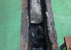 千葉県千葉市の飲食店|厨房側溝内の塗り床補修工事:タフクリートMW工法