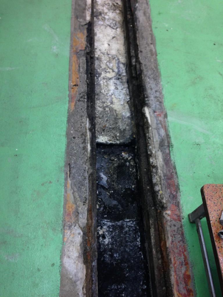 千葉県内の厨房側溝、タフクリートMW