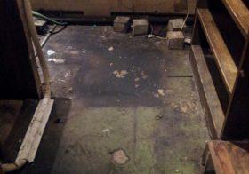東京都品川区の飲食店|厨房床塗装(塗り床)改修工事:ケミクリートMSLペースト防滑工法
