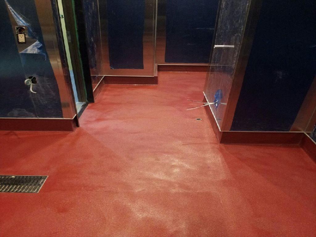 東京都台東区浅草のラーメン店|床塗装(塗り床)(塗床)工事:水性硬質ウレタンコンクリート