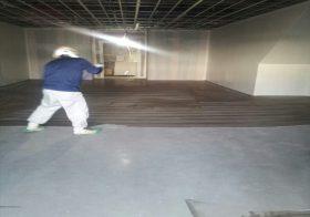 栃木県内の防災備蓄倉庫|硬質ウレタン塗り床(塗床):ABC商会のビューコートを施工しました。