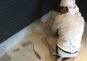 埼玉県草加市の個人邸ガレージ(駐車場)|床塗装(塗床)工事:ケミクリートEPカラー