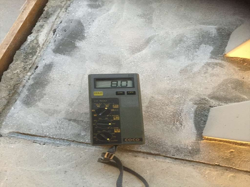 東京都板橋区の小学校給食室|塗り床(塗床)(床塗装)工事:ミルクリートMM工法:水性硬質ウレタン