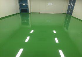 茨城県の製薬会社 クリンルーム塗り床(床塗装工事):ケミコンダクトRE