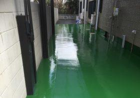東京都練馬区の個人邸|ガレージ床塗装(塗り床):防塵塗装