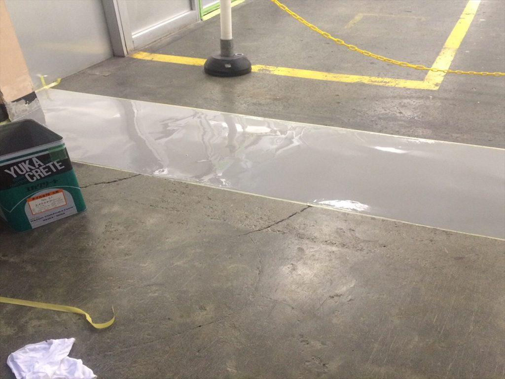 群馬県内の食品工場(缶詰)|塗り床補修工事:ケミクリートE