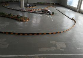 埼玉県寄居町のディークロスサーキット様|ドリフトラジコンサーキット塗り床(床塗装)工事の下見