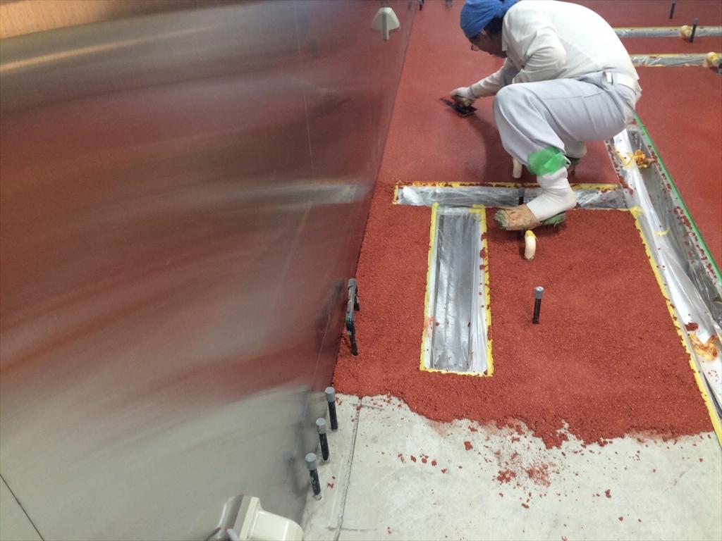 ラーメン店厨房床塗装