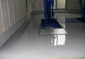 東京都荒川区個人邸|ガレージ塗り床工事:ケミクリートE防滑工法