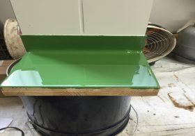 製薬工場床塗装(塗床)のサンプルを作成