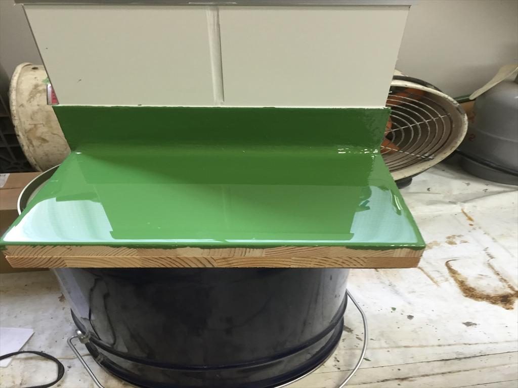 製薬会社工場、クリンルーム用床塗装サンプル
