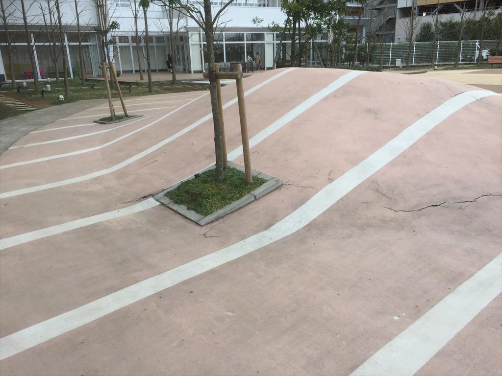 千葉県マンション公園床塗装
