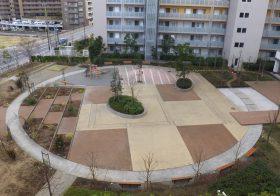 千葉県内のマンション|公園床塗装塗替え工事の下見