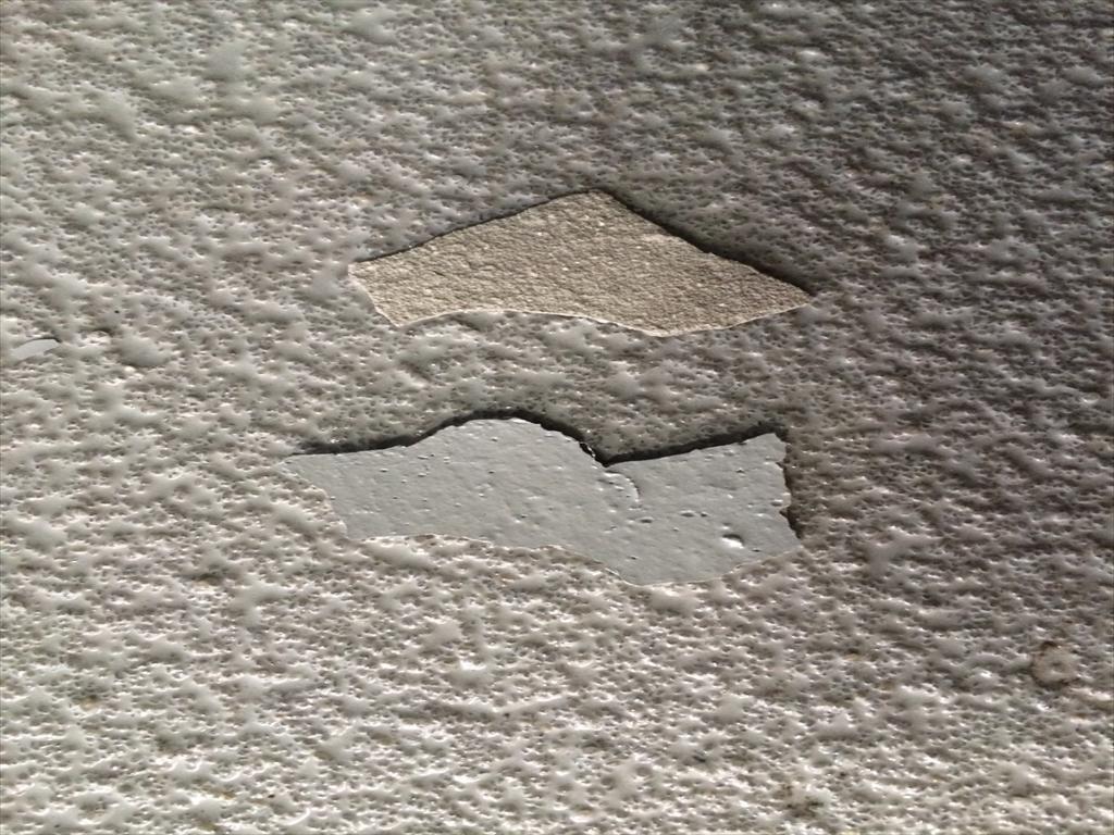 防塵塗装の剥離