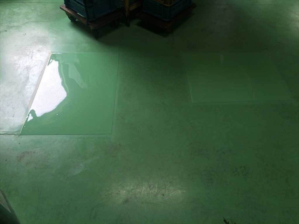 長野県茅野市 イトウパーツ工業様 工場床塗装の補修工事:ケミクリートE