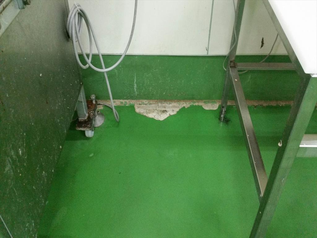 食品工場床塗装 夜間工事