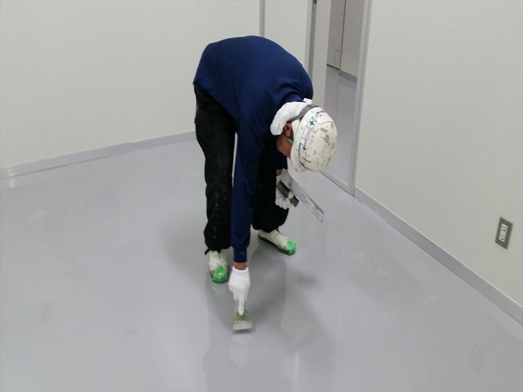 クリンルーム、東京都、床塗装、塗床工事