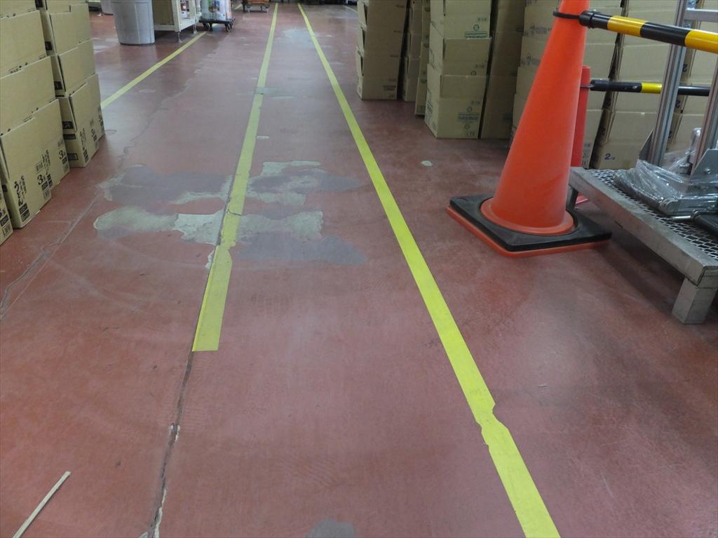 群馬県 工場床塗装剥離