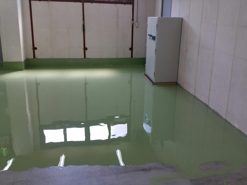 塗床、東京都八王子市、倉庫