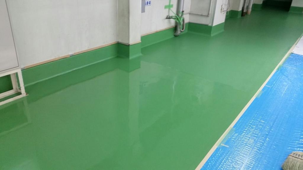 埼玉県内食品工場|塗床(床塗装)改修工事:ケミクリートMSL