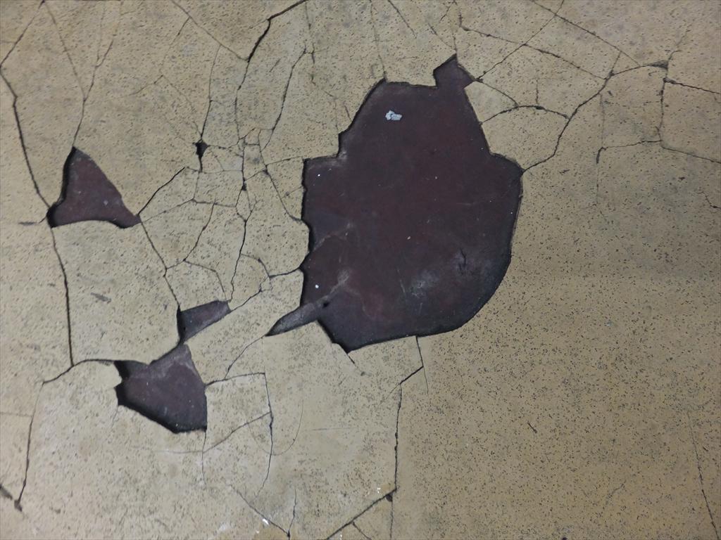 東京都内結婚式場厨房塗床剥離現地調査