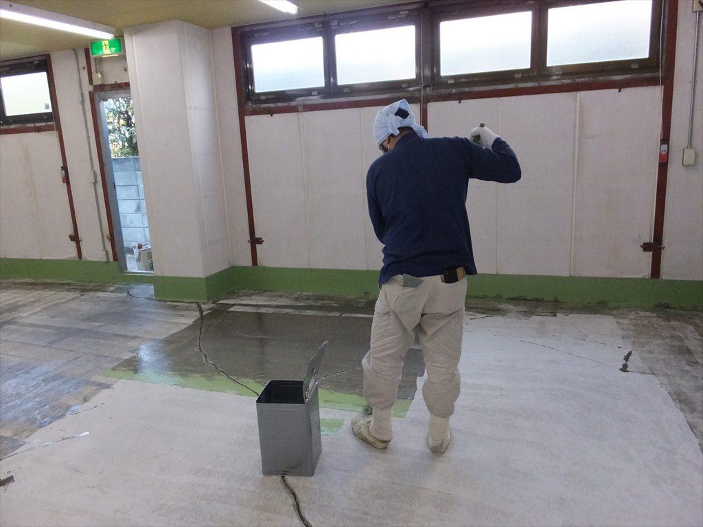 東京都八王子市|資材倉庫塗床工事:ケミクリートE
