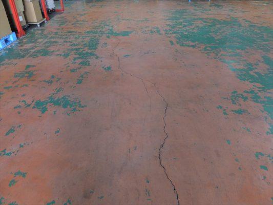 埼玉県戸田市内の物流倉庫 塗床(床塗装)工事:ケミクリートEPカラー