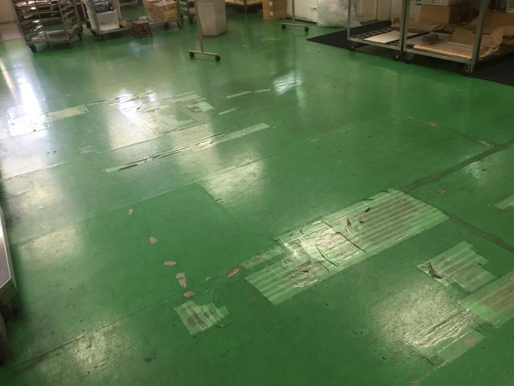 床塗装剥離
