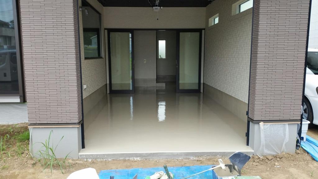 神奈川県平塚市の個人邸ガレージ(駐車場)|床塗装(塗床)工事