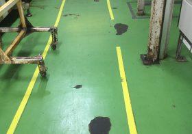 千葉県内のパン工場床塗装補修の下見
