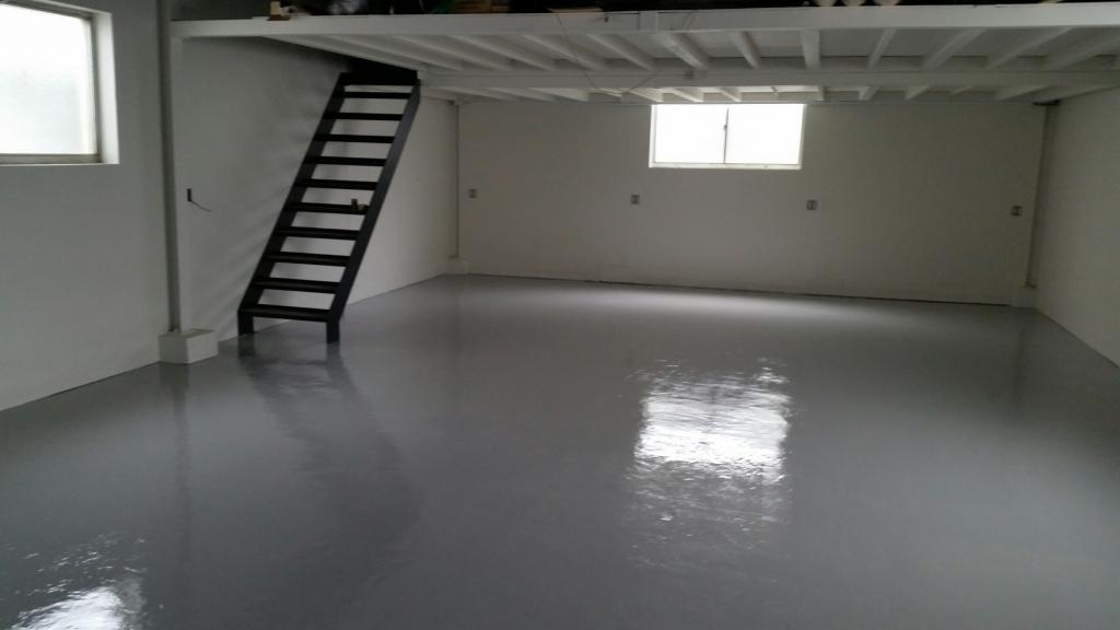 東京都江戸川区の工場床塗装塗替え工事|ケミクリートEPカラー