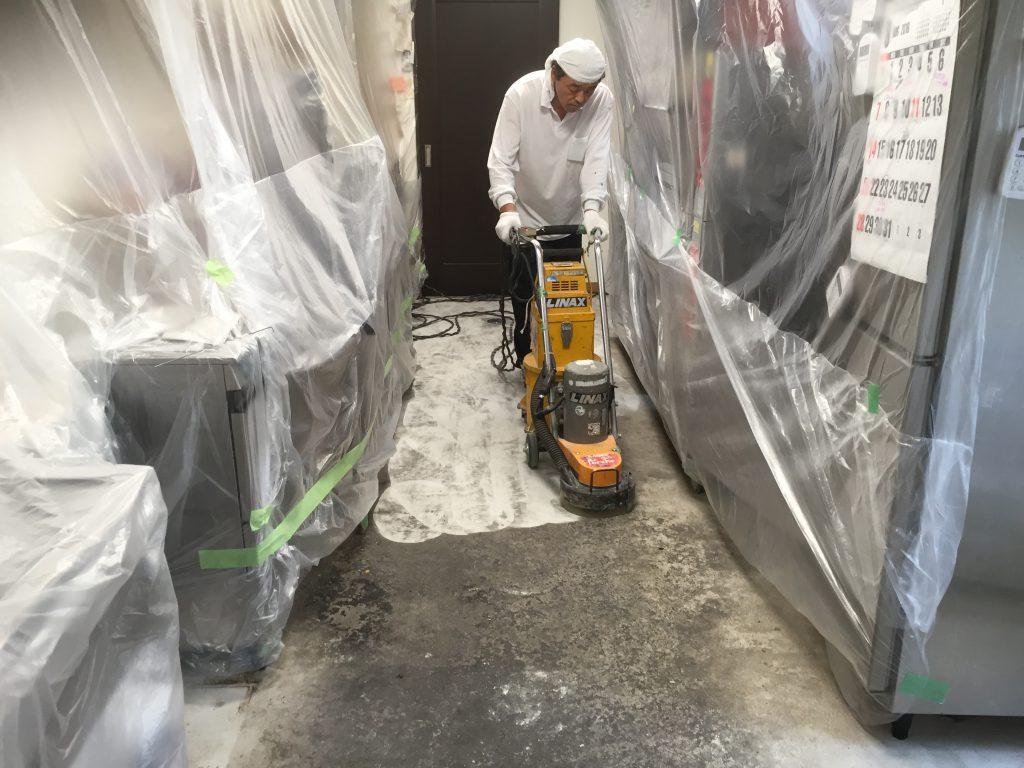 横浜市菊名のマリセル(パン屋さん)調理場床塗装工事