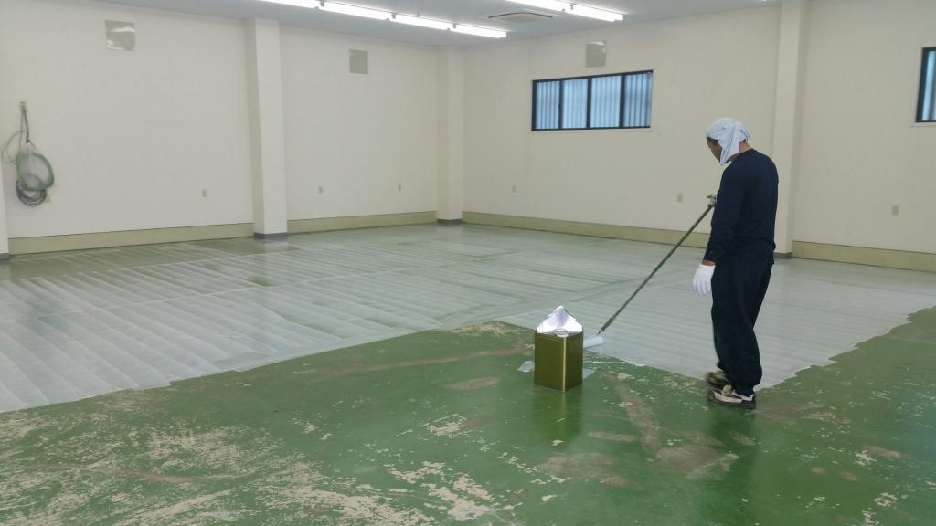さいたま市の精密測定器メーカー|床塗装:エポキシ樹脂防塵塗装