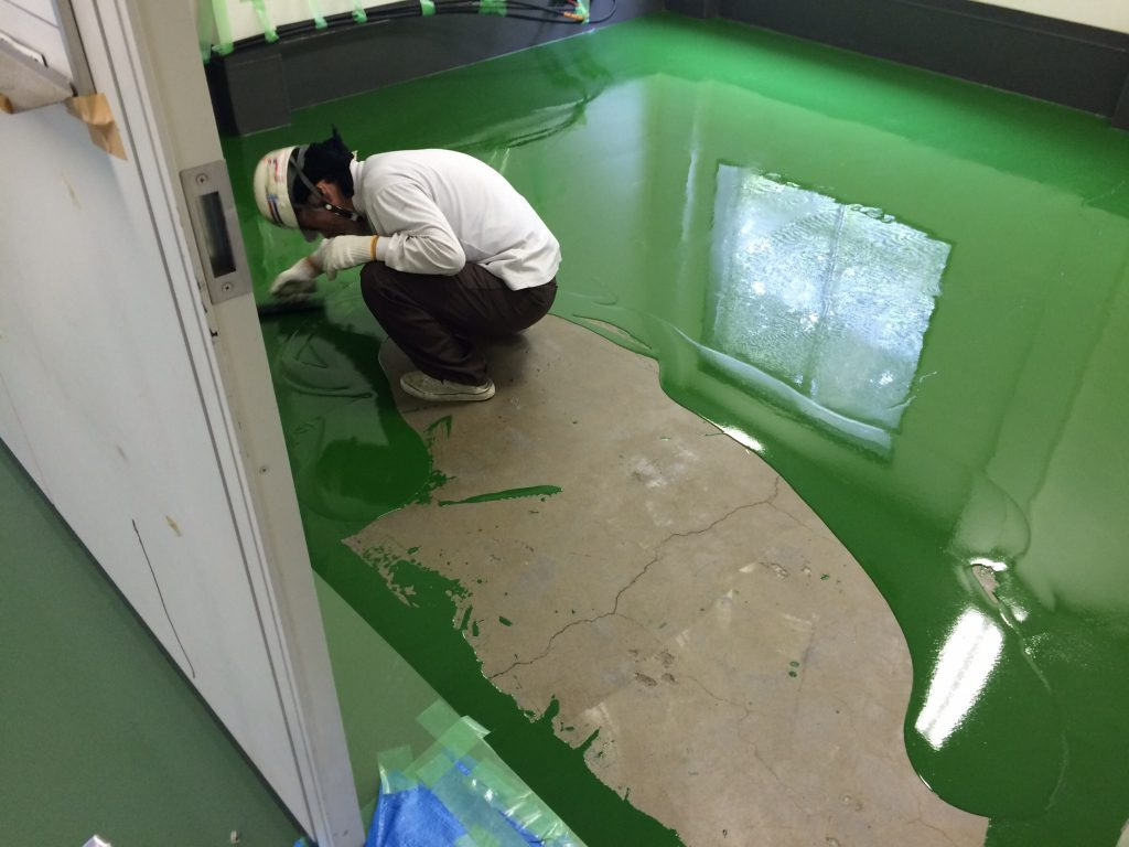 神奈川県横浜市の化学工場|塗床改修工事:ジョリエースE