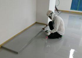 埼玉県所沢市内の製薬会社 クリンルーム床塗装工事:ケミクリートEペースト工法