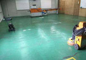 千葉県流山市の化粧品会社 工場塗床改修工事:エポキシ樹脂流しのべ工法