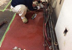 東京都中央区丸の内の牛丼店|厨房塗り床改修工事:タフクリートMH