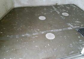 埼玉県川口市のマンション|ゴミ置場床塗装改修工事:ケミクリートEPカラー