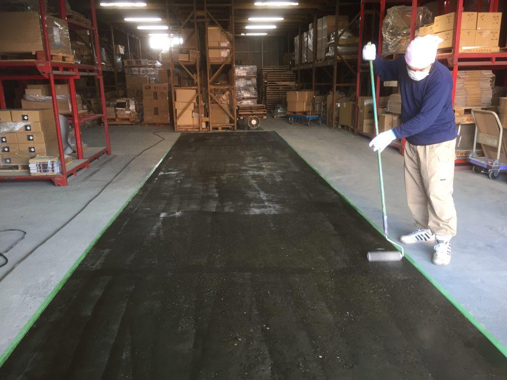 埼玉県新座市の倉庫|防塵塗装工事:ケミクリートEPクリア