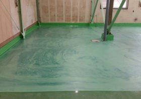 埼玉県川口市の工場 床塗装塗り替え:エポキシ床塗装