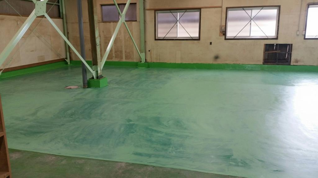 埼玉県川口市の工場|床塗装塗り替え:エポキシ床塗装