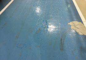 千葉県内の工場通路|床塗装:ケミクリートEペースト工法